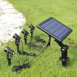 4W LED Zonne-energie Grond Licht Outdoor Spotlight Lamp Voor Gazon Tuin Binnenplaats Tuin Licht