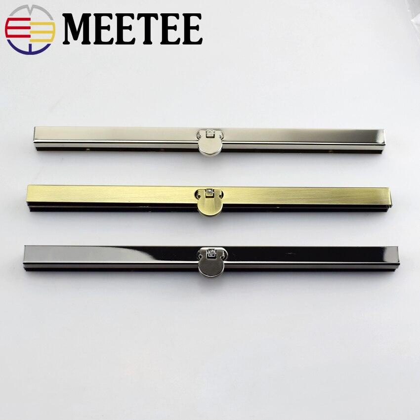 30pcs Purse Wallet Frames Bar Clasp DIY Openable Edge Replacement 19cm