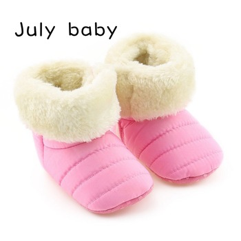 July baby 0-1 years old baby cotton shoes toddler shoes baby shoes soft bottom baby shoes thick warm boys and girls 2018 winter plus cotton girls princess shoes genuine leather soft bottom for children 0 1 years old female baby toddler shoes