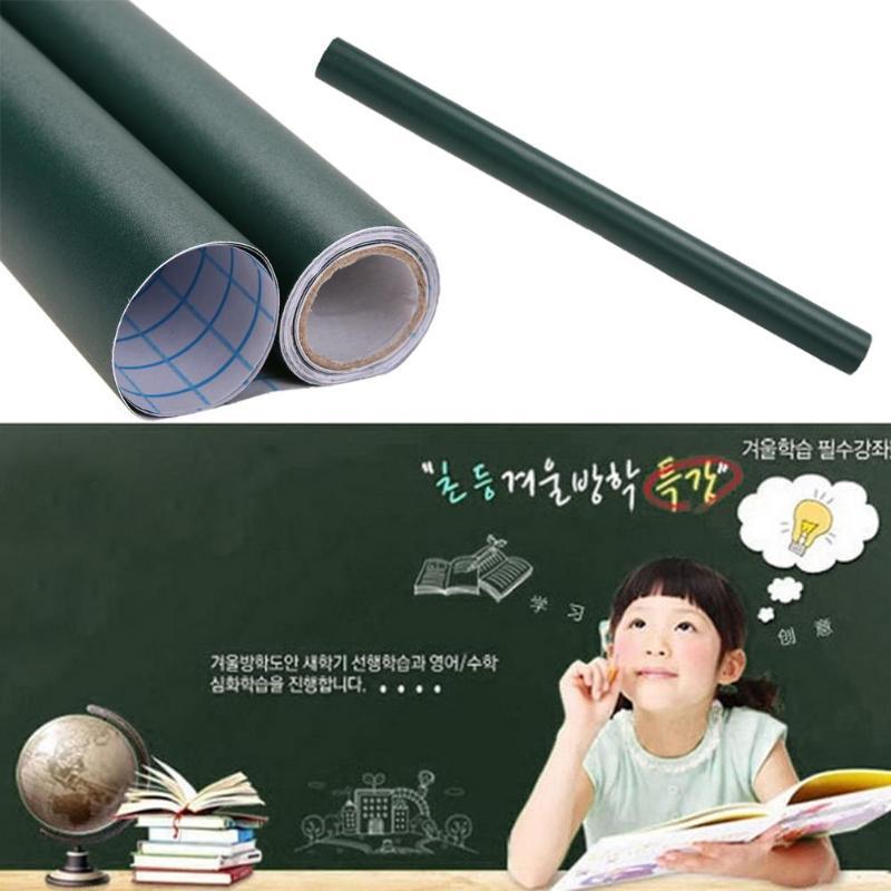 1 Pcs PVC Waterproof Blackboard Sticker With 5xColorful Chalk Free Movable Child Graffiti Writing Board Classroom Teaching Tools