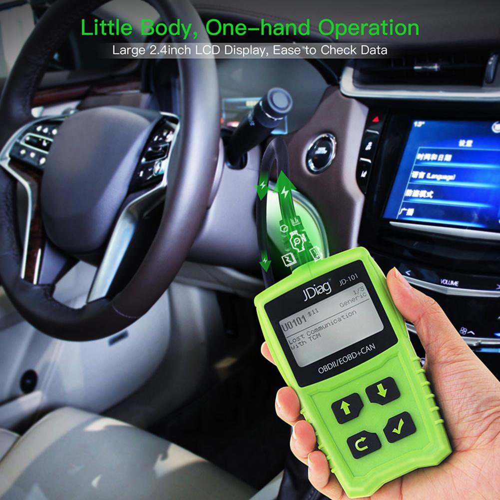 JD101 OBDII EOBD Code Reader Car LCD Error Reader Diagnostic Device Universal OBD Car Diagnostic Tool Auto Scanner diagnostic