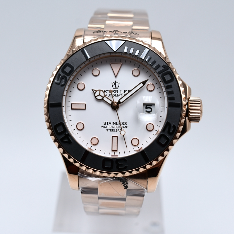Ha805b3b4a1f7455290dea5b15bc1c6171 PETER LEE Nautilus | Watch Shop Near Me | brand luxury daydate 40mm mechanical automatic men watches classic ceramic bezel stainless steel gold watch