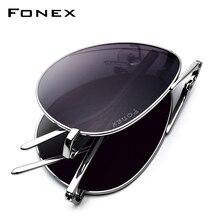 Pure Titanium Polarized Sunglasses Men 2019 New Folding Famous Aviation Sun Glasses for Men Aviador High Quality Shades 838