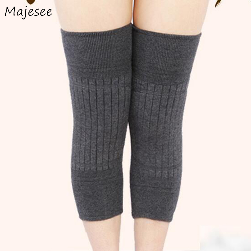 Knee Sleeve Women Winter Warmer Plus Velvet Solid High Quality Elasticity Causal Simple Womens Thick Fashion Unisex Comfortable