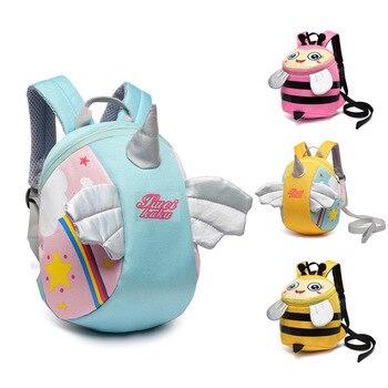 2020 New Cute Baby Kid Cartoon Bags Unicorn Bee Design Anti-Lost ToddlerCartoon Backpacks Preschool - discount item  40% OFF School Bags