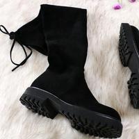 Ботфорты на толстой подошве Цена: от 2535 руб. ($32.82) | 55 заказов Посмотреть:   ???? Красивая и стильная обувь, подошва рифленая, если будут заморозки скользко не будет. Застежки нет, есть шнурок для регулировки. На полную ножку они не подойдут. Размер