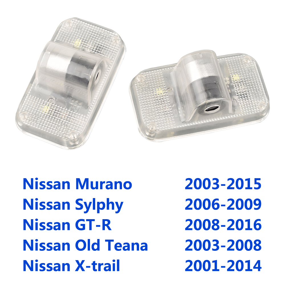 For NISSAN Murano Z50 Z51 SYLPHY G-TR GTR R35 Teana J31 X-trail T30 T31 Car Nissan Logo Door Light Ghost Shadow Projector