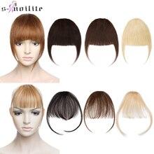S-noilite густая челка воздух челка прямой парик натуральный черный коричневый блонд невидимый поддельные волосы кусок зажим в бахрома волосы наращивание