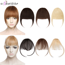 S-noilite Thick Bangs Air Bangs Straight Wig Natural Black Brown Blonde Invisible Fake Hair Piece Clip In Fringe Hair Extensions