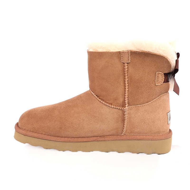 Bayan ayakkabıları tutmak sıcak kadınlar kısa çizmeler kaymaz kalın alt kar ayakkabıları düz renk peluş ile rahat