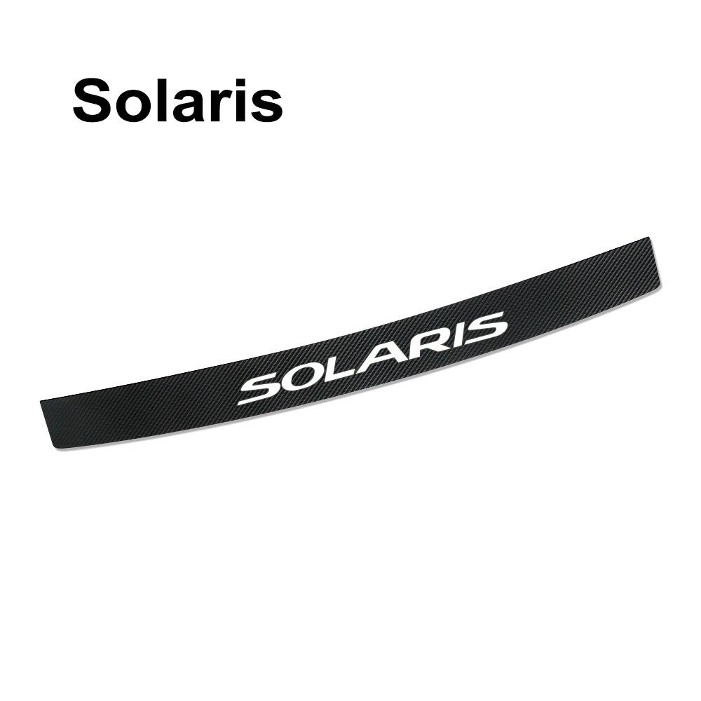 Наклейка на задний бампер автомобиля для hyundai Elantra Accent Tucson i40 i30 i10 i20 Veloster IX35 IX20 Solaris Genesis аксессуары Santafe - Название цвета: For Solaris
