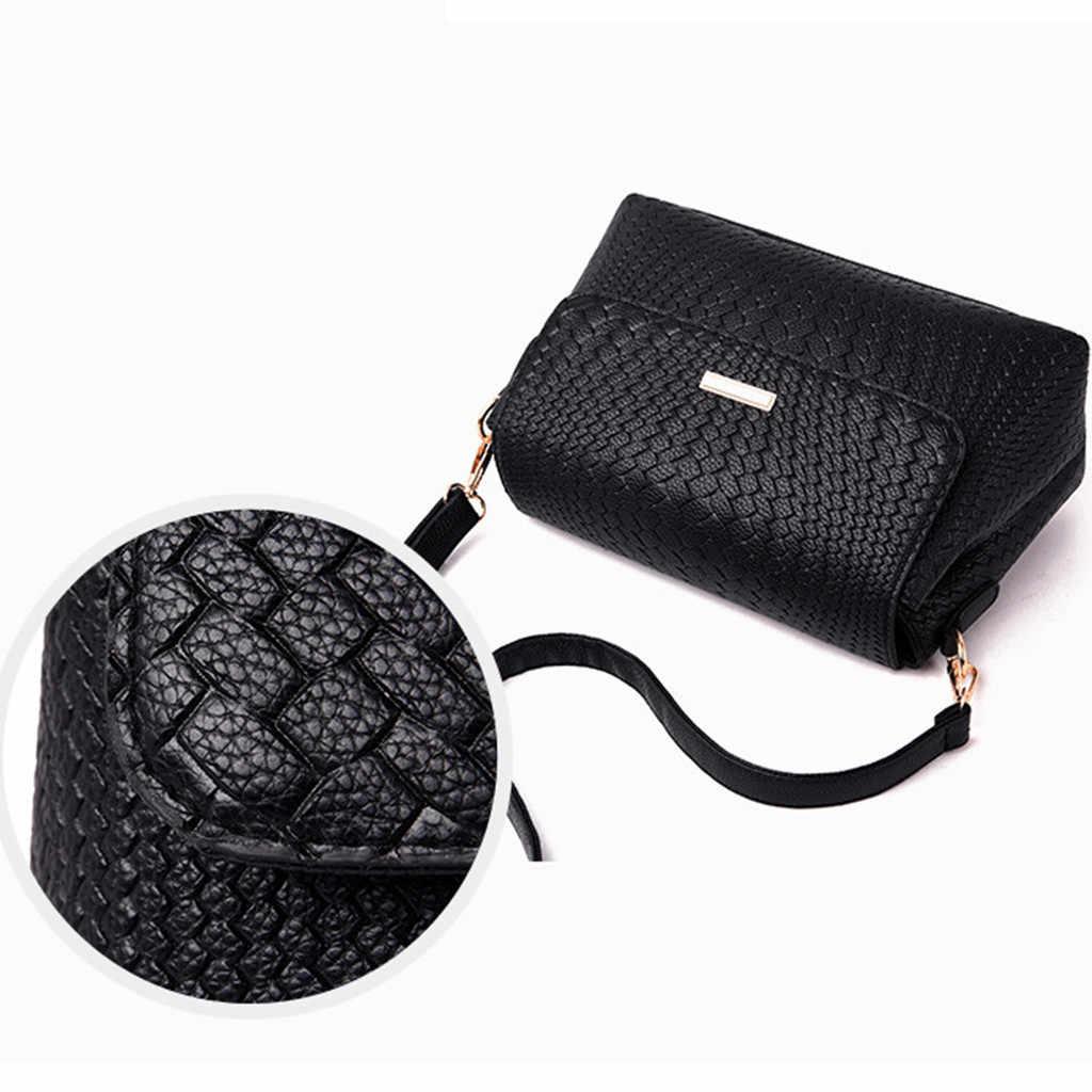 Fashion Wanita Tas Kulit Tas Tangan PU Tas Bahu Kecil Flap SOLID Tas Selempang untuk Wanita Messenger Tas Bolsas Femininas