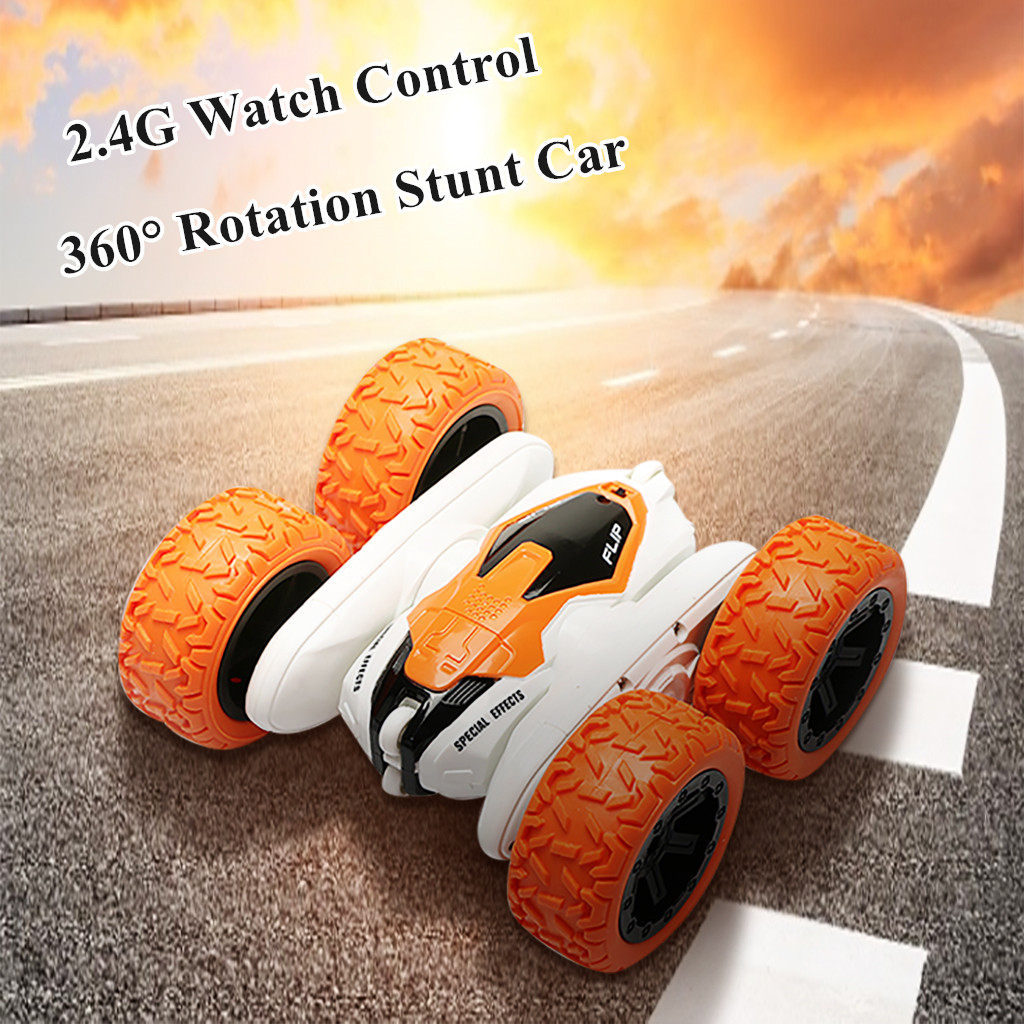 2.4G Intelligent Watch Control 360° Rotation Bounce Stunt Off Road Car RC Racing Car Kids Toys Juguetes Brinquedos игрушки New