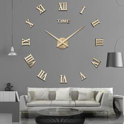 Специальное предложение, 3d Большой акриловый круг, зеркальные настенные часы «сделай сам», кварцевые часы, повседневные часы, Современное у...