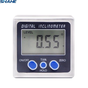 Digital Bevel กล่องวัดมุมวัดมุมวัดมุม 360 องศาฐานแม่เหล็กดิจิตอล Inclinometer เครื่องวัดมุม