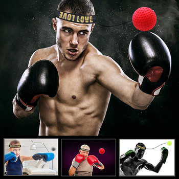 Boxing Reflex  ball speed with Adjustable Headband head-mounted Boxing reaction training ball fitness equipments 4