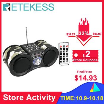 Retekess V113 FM Radio Stereo Digital Radio Receiver Speaker MP3 Music Player USB Disk TF Card