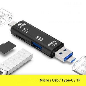 Image 3 - 3 In 1 Tipo c Micro USB OTG lettore di Schede Flash Drive ad alta velocità USB2.0 Universale TF/ intestazioni di Estensione della Carta di DEVIAZIONE STANDARD per il Telefono Del Computer