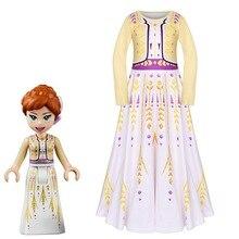 Детская одежда для девочек с длинными рукавами героини мультика Анны платье Косплэй, костюм для мальчиков и девочек детская вечерние принцесса Маскировка печатных платье школьное платье для сцены