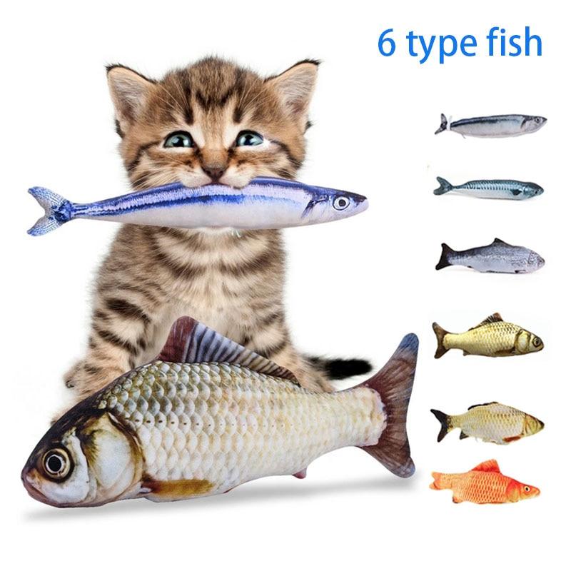 Gato brinquedo de peixe elétrico animal de estimação simulação 3d peixe macio pelúcia agitação brinquedo de peixe recheado interativo dança peixe jogando brinquedo de gato macio