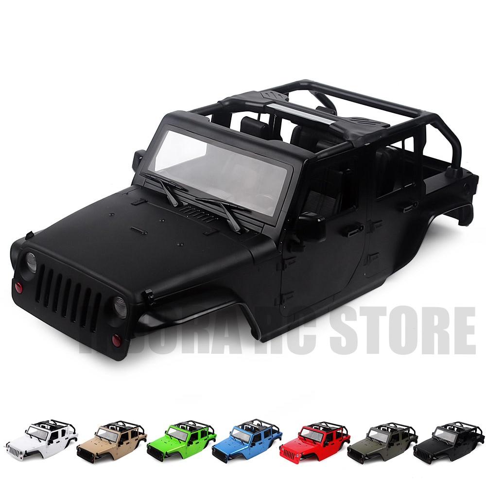 313 millimetri Passo Convertibile Auto Aperta Borsette 7 Colore Disponibile per 1/10 RC Rock Crawler Assiale SCX10 90046 Jeep Wrangler-in Componenti e accessori da Giocattoli e hobby su  Gruppo 1