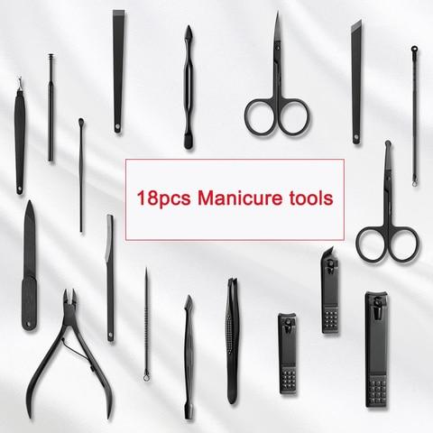 18 pcs set nail clippers manicure pedicure
