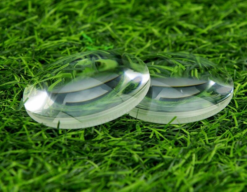 Lente convexa plano de vidro óptico do