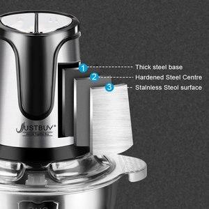 Image 2 - Fabriek Prijs 500W 2 Speed Rvs 2L Capaciteit Elektrische Chopper Vleesmolen Vleesmolen Keukenmachine Slicer
