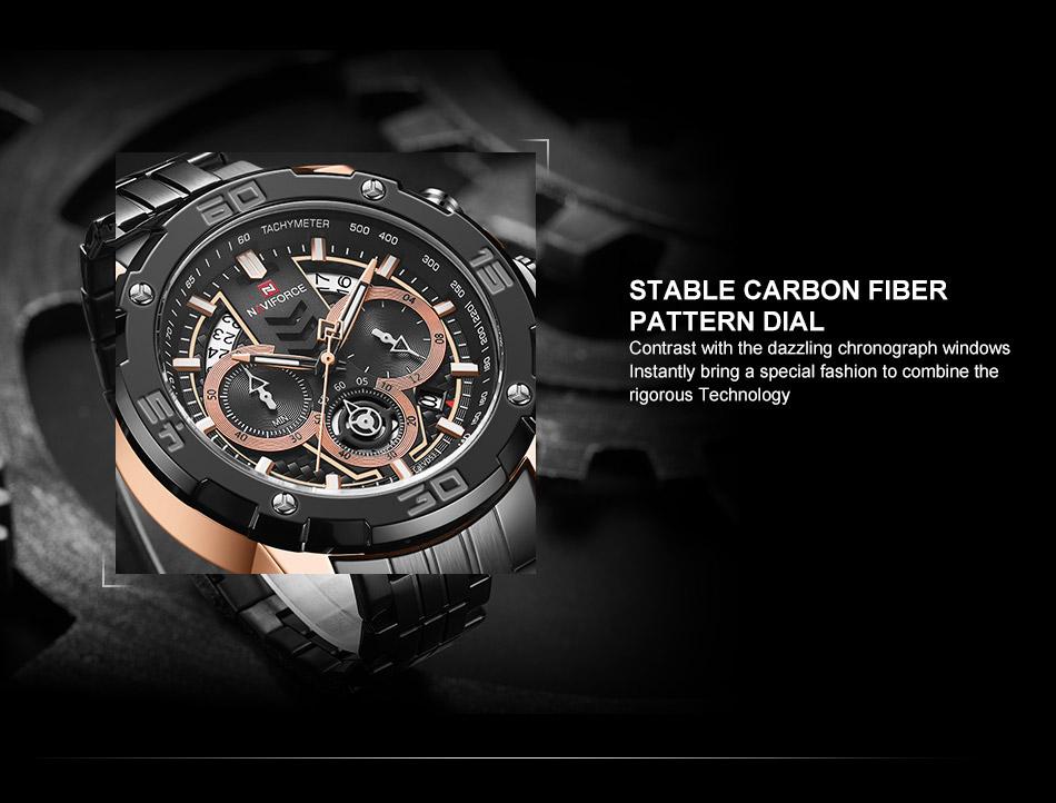 NAVIFORCE NF9175 Stainless Steel Watch 9