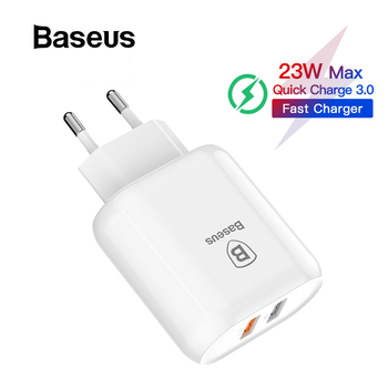 Baseus 18W Quick Charge QC 3.0 USB Charger for Samsung Xiaomi Phone Adapter EU Plug Travel Wall Charger for iPhone Charger