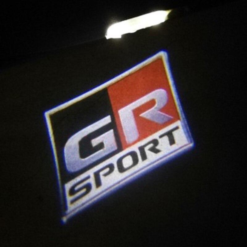 2 шт. гр Спорт любезно светильник светодиодный Автомобильный Дверной светильник для Toyota GS TOM'S стайлинга автомобилей приветствуется светиль...
