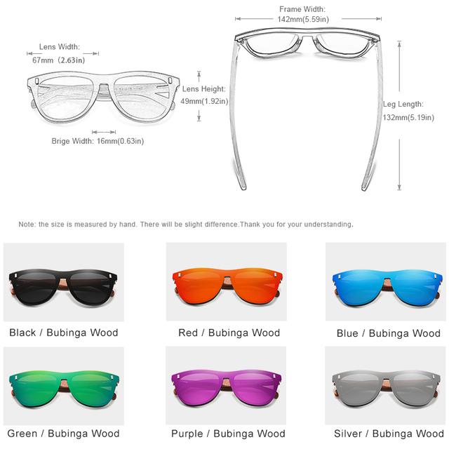 KINGSEVEN Natural Bubinga Wood Sunglasses