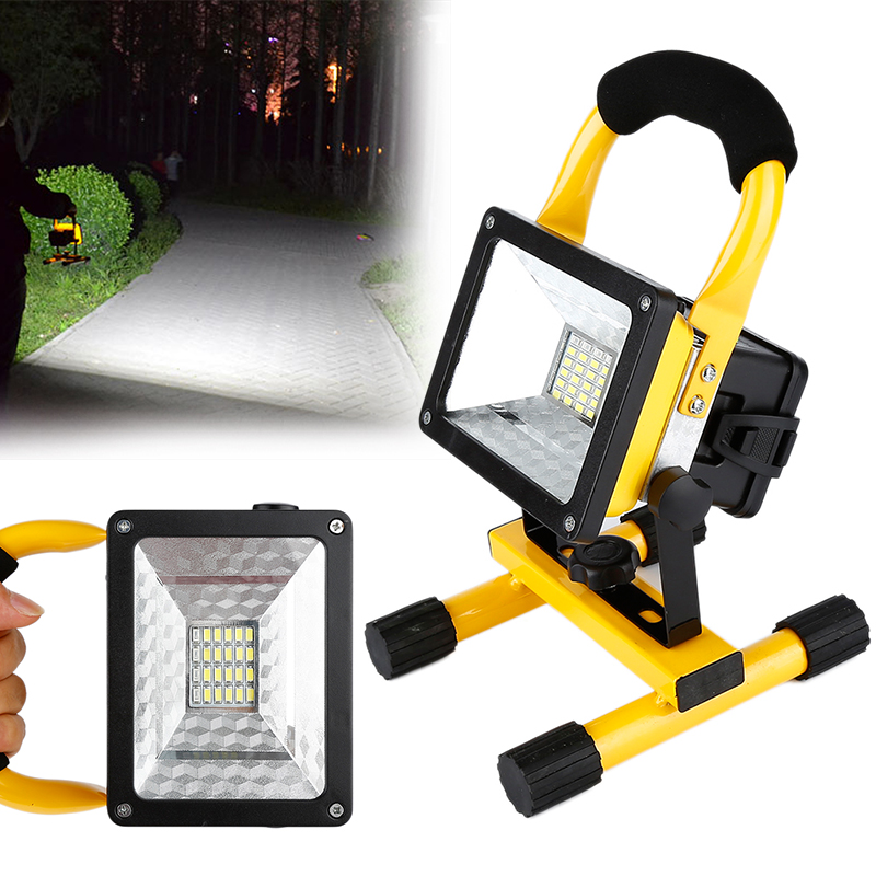 3X18650 Rechargeable Battery Floodlight 30W 220V Led Flood Light Waterproof Outdoor Lights With Charger Construction Lamp