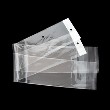 100pcs/lot 10.5x62cm Clear Opp Plastic Bag Wig Package Bags Self Adhesive Transparent Long Poly Packing