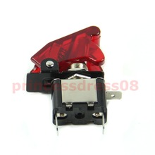 12V Car Racing On Off Aircraft Type White LED Toggle Switch Control Clear Cover