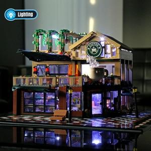 Image 2 - 2059 шт создатель эксперт модульные здания кафе Кофейня с светильник строительные блоки кирпичи игрушки для детей
