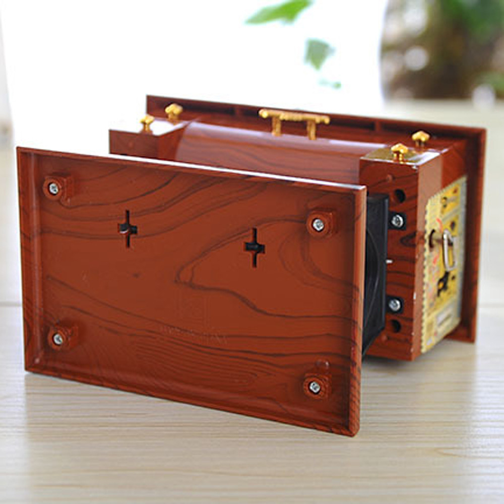 Vintage Mini Macchina per Cucire Music Box Meccanico Regalo di Compleanno Tabella Decor Cucire Music Box
