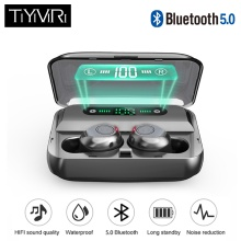 лучшая цена 2019 F9 Mini Bluetooth Earphones with Mic Wireless Sports Headphones Noise Cancelling Headset and charging box 2019 new with mic