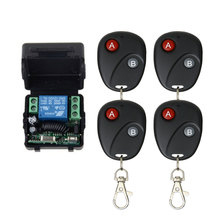 DC12V 1relay switch with remote control 433Mhz universal wireless transmitter for laboratory access control switch DIY