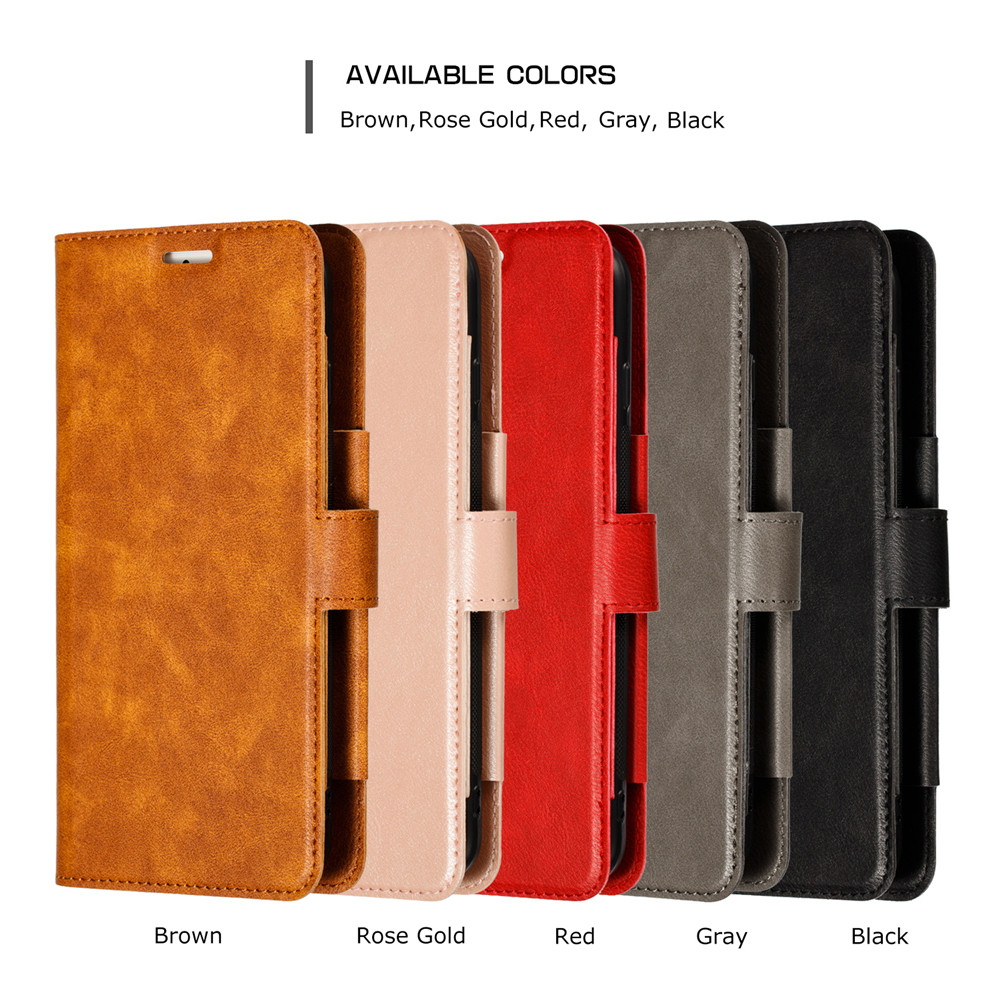 Retro PU Leather Case iPhone 7 6 6S 8 Plus Case iPhone X XS Max XR Case Cover Detachable 2 in 1 Multi Card Wallet Phone cases76