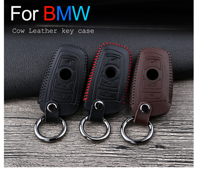 Кожаный чехол для автомобильных ключей bmw 1 2 3 4 5 7 series