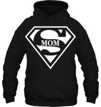 Men Hoodie Super Mom Supergirl Superman Superwoman Movie Girl Mother Women Streetwear(China)