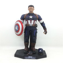 29cm Hot Sales Captain America 1/6 Scale PVC Action Figure Model Collectible Toy