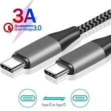 USB C к USB C кабелю Тип c PD 60 Вт для Samsung S 20 10 Note10 Note9 для быстрой зарядки USB C для redmi mi 11 HUAWEI P20 P30 Pro