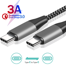 USB C к USB C кабелю, USB PD 60 Вт для Samsung S 20 10 Note10 Note9 для быстрой зарядки, USB C провод для Macbook Air HUAWEI P20 P30 Pro