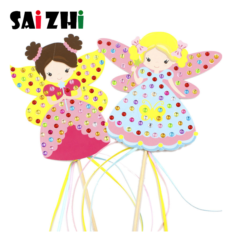 Saizhi Craft Toys For Children Creative Colorful Magic Diamond Fairy Stick Kindergarten Kids Diy Craft Sets Handmade Show Props