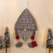Pendant Advent Cute Cloth Door Wall Hanging Home Decoration Gift Ornament Party Forest Man Christmas Calendar Living Room(China)