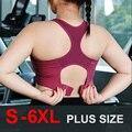 Cloud Hide S-6XL Sports Top Women Yoga Bra Push Up Brassiere BH Gym Shirt Fitness Shockproof Sportswear Sports Bra Top Plus Size