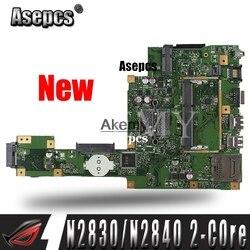 Nowy! Asepcs X553MA laptopa płyta główna do asusa X553MA X553M A553MA D553M F553MA K553M oryginalne płyty głównej płyta główna N2830/N2840 2 Core CPU w Płyty główne od Komputer i biuro na