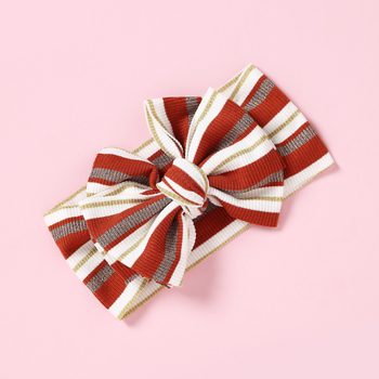 Fashion Striped Knot Baby Girls Hair Wrap Bands Bow Turban Headbands Turbante Headwraps Hair Accessories for Baby Girl knot front striped dress